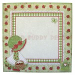 Strawberry Sue Shaped Fold Card - envelope front