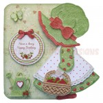 Strawberry Sue Shaped Fold Card - view 1