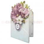 Flower Filled Envelope Shaped Fold Card - view 2
