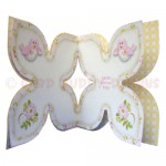 Birds & Blossoms Quad Petal Shaped Fold Card - inside view