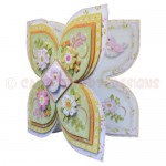 Birds & Blossoms Quad Petal Shaped Fold Card - view 2