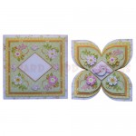 Birds & Blossoms Quad Petal Shaped Fold Card - finished set