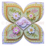 Birds & Blossoms Quad Petal Shaped Fold Card - view 1