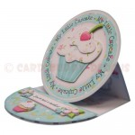 My Little Cupcake Round Easel Card - view 2
