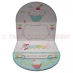 My Little Cupcake Round Easel Card - inside view