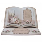 Weddings, Anniversaries & Engagements Open Book Easel Card 1