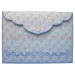 Snowy Church Bracket Edge Shadow Box Fold Card - envelope back