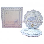 Baby Boy Fancy Scalloped Easel Card - finished set