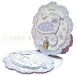 Baby Boy Fancy Scalloped Easel Card - view 2