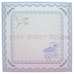 Baby Boy Fancy Scalloped Easel Card - envelope front