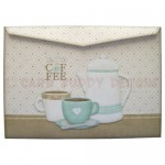 Coffee Time Over The Top Easel Card - envelope back