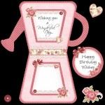 Close up of Insert & Birthday Plaque for Card Front