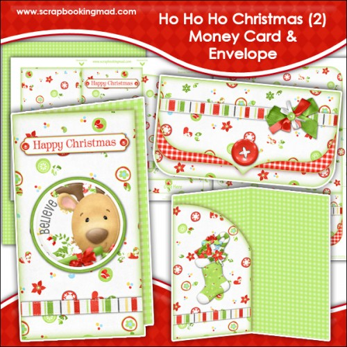ho ho ho christmas 2 money card  u0026 envelope