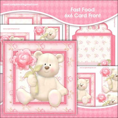 Grin N Bear It 6x6 Card Front - Click Image to Close