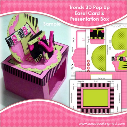 Trends 3D Pop Up Easel Card & Presentation Box - £1.00 ...