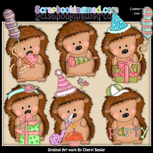 Pepper The Hedgehog Birthday Wishes ClipArt Collection - Click Image to Close