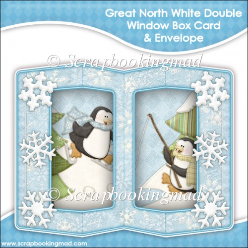 Great White North Double Window Box Card and Envelope - Click Image to Close