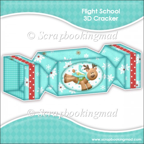 Flight School 3D Cracker Gift Box - Click Image to Close