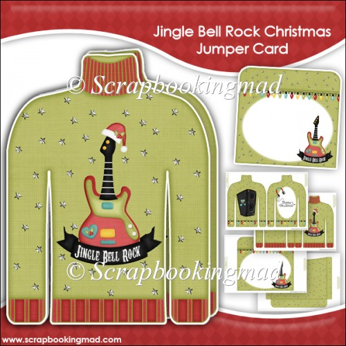 Jingle Bell Rock Christmas Jumper Card & Envelope - Click Image to Close