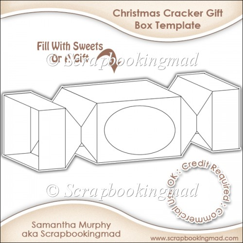 Christmas cracker gift box template cu ok Make your own 3d shapes online