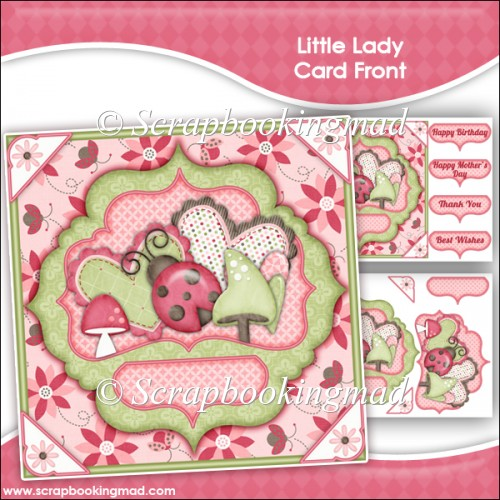 Little Lady Card Front - Click Image to Close