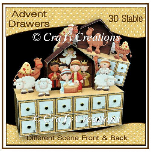 Nativity Advent Drawers - Click Image to Close