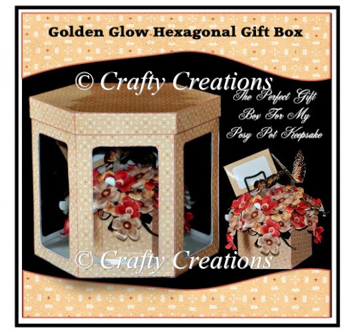 Posy Pot Gift Box - Golden Glow - Click Image to Close