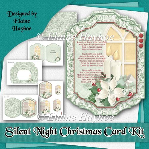 Silent Night Christmas Card Kit - Click Image to Close