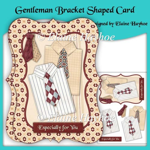 Gentlemen Bracket Shaped Card - Click Image to Close