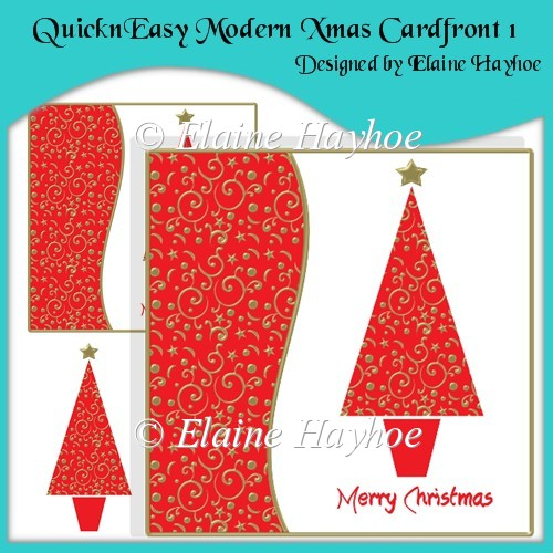 QuicknEasy Modern Xmas Cardfront 1 - Click Image to Close