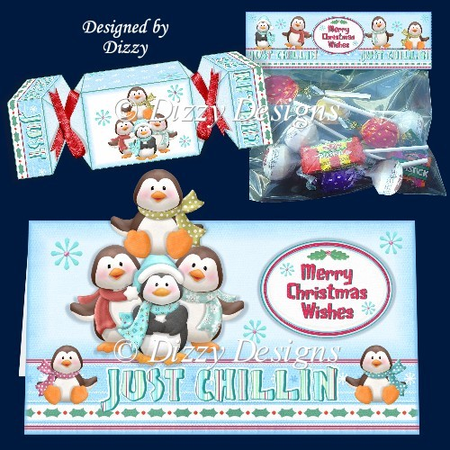 Just Chillin Penguins Card Kit - Click Image to Close