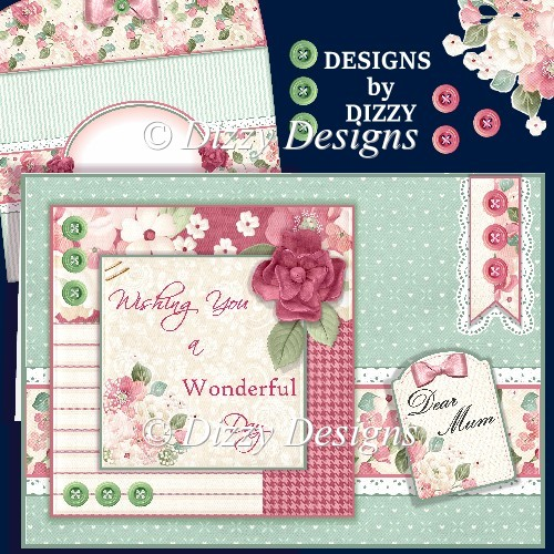 Buttons and Blooms Card Kit - Click Image to Close