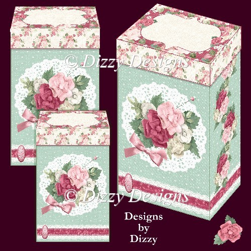 Flowers and Lace Gift Boxes - Click Image to Close