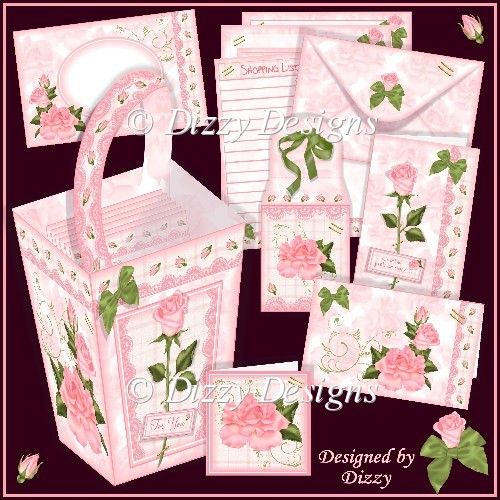Rose Repose Stationery Gift Set - Click Image to Close