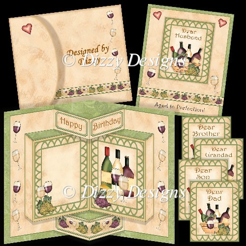 Aged to Perfection Wine Pop Out Card - Click Image to Close