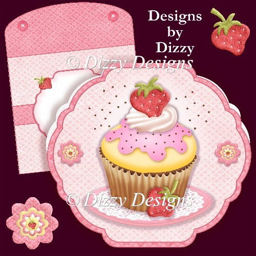 Yummy Cupcake Card - Click Image to Close