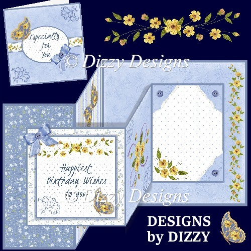 Buttercup Bliss Double Z Fold Card with Gift Card - Click Image to Close