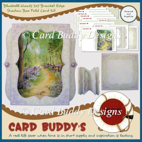Bluebell Woods 7x7 Bracket Edge Shadow Box Fold Card Kit - Click Image to Close
