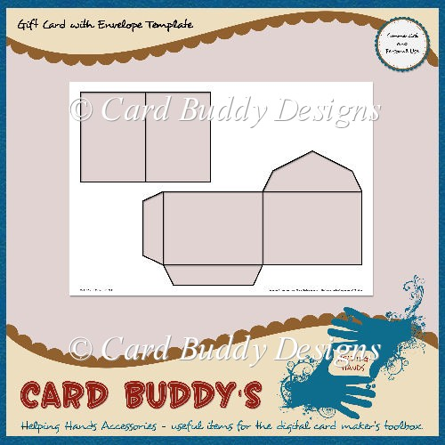 Gift Card with Envelope Template – CU/PU - Click Image to Close