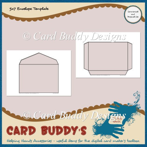 5x7 envelope template cu pu for 5x7 recipe card template for word