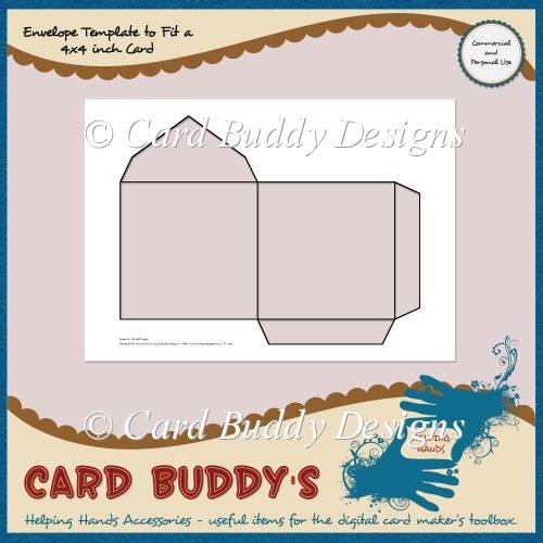 Envelope Template to Fit a 4x4 inch Card – CU/PU - Click Image to Close