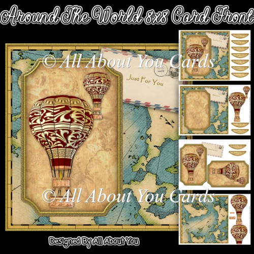 Around The World 8x8 Card Front - Click Image to Close