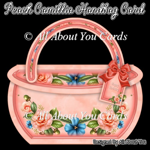 Peach Camillia Handbag Card - Click Image to Close