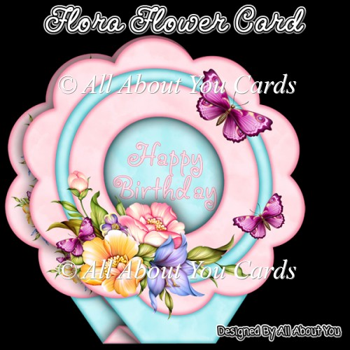 Flora Flower Shaped Card - Click Image to Close