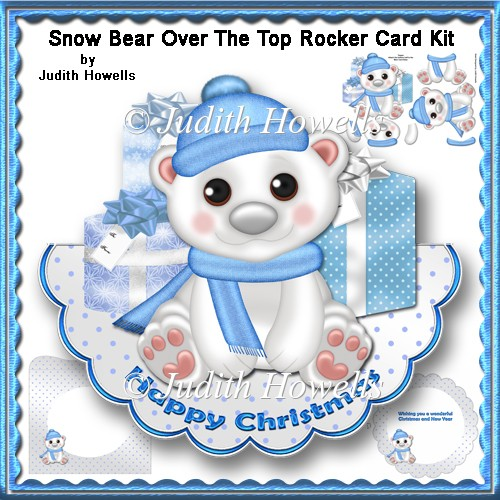 Snow Bear Over The Top Rocker Card Kit - Click Image to Close