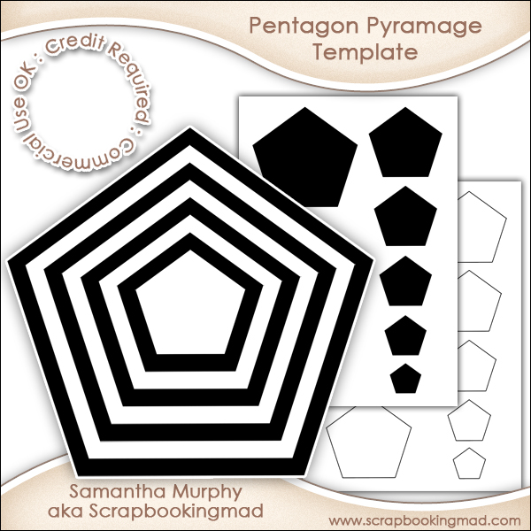 pentagon pyramage template commercial use ok 3 00