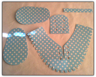 Paper Baby Shoe Template Craft robo template print