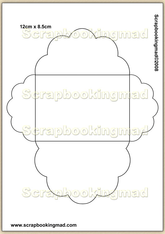 Template Overlay Decorative Envelopes Pdf Sheet