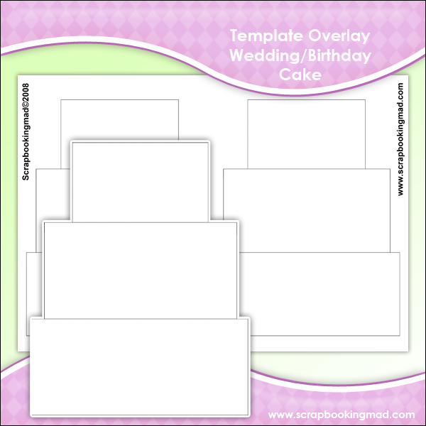 Template Overlay Wedding Cake Or Birthday Sheet 163 1 00